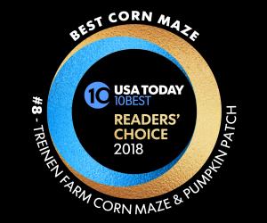 Treinen Farm voted one of the ten best corn mazes in the U.S.