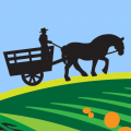 hayride-driver-and-horse-icon