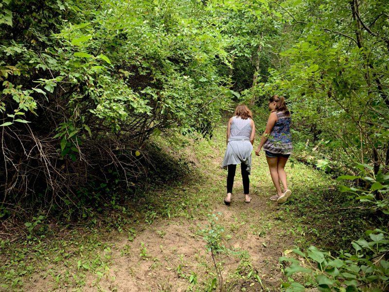 Desire path two women walking
