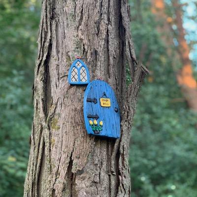 Blue Fairy Door