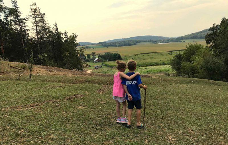 Walking on hill