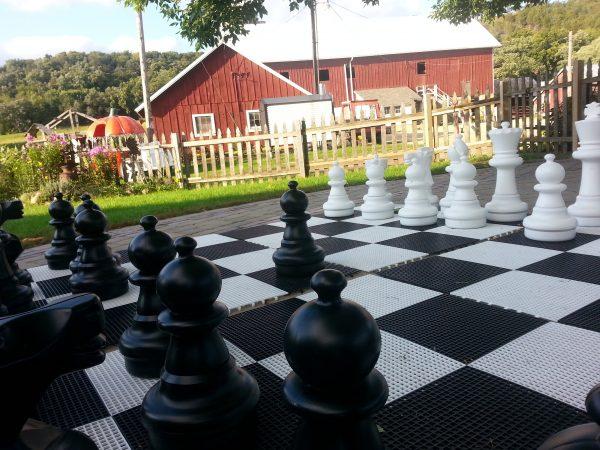 Giant Chess Set at Treinen Farm