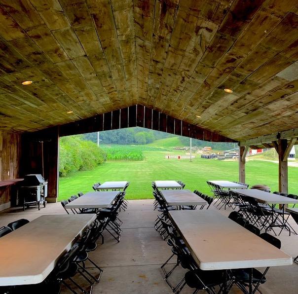 Pavilion Interior at Treinen Farm
