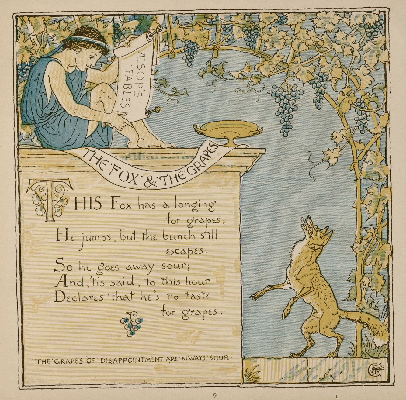 Image result for pictures of fox and the grapes