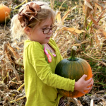 glasses girl with pumpkin right